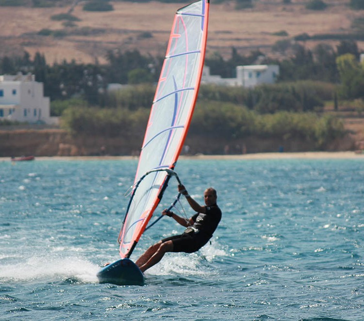 Windsurf in Paros at Golden Beach