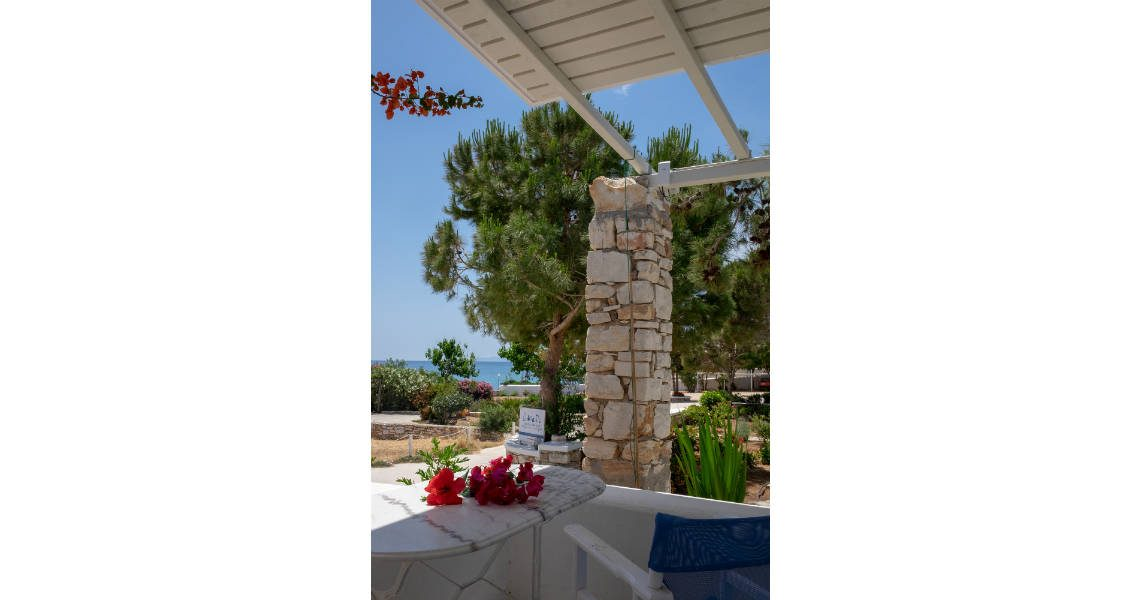 balcony view to the sea in drios Paros