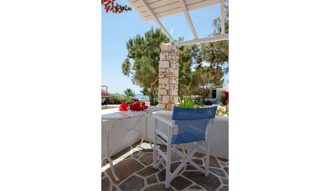 balcony view to the sea in drios Paros